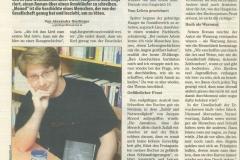 """Presseartikel über das Buch """"Monod"""""""