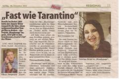 """Zeitungsbericht über """"Bluadsauga"""""""