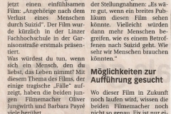 """Presseartikel zum Film """"Zeit/Raum"""""""