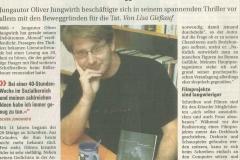 """Presseartikel in der NÖN über das Buch """"Monod""""."""